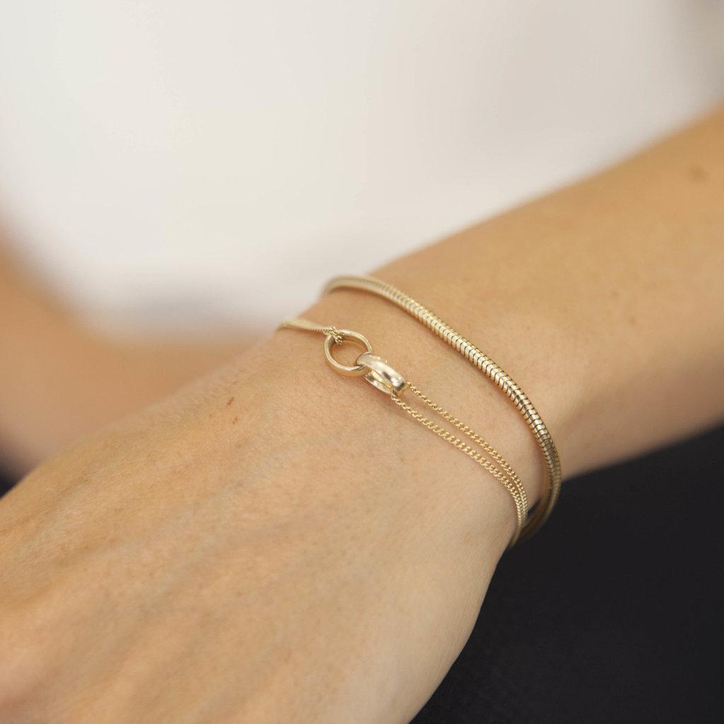 Joulberry Gold Snake Chain Bracelet