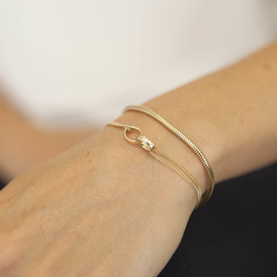 Joulberry Gold Snake Chain Bracelet