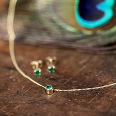 Joulberry Gold Emerald Earrings