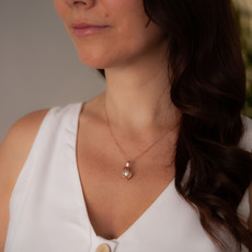 Joulberry Oyster Gold Pearl Necklace