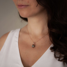 Joulberry Oyster Rose Gold Tahitian Pearl Necklace
