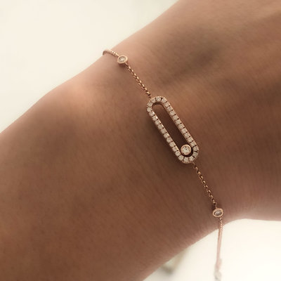 Rose Sliding Diamond Bracelet