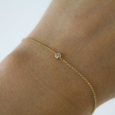 Joulberry Gold North Star Diamond Bracelet 0.04 ct