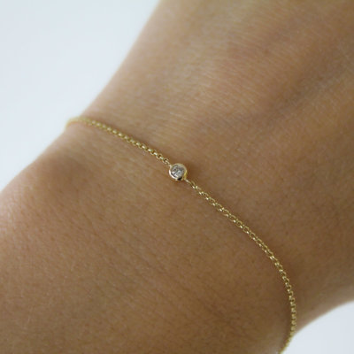 Gold North Star Diamond Bracelet 0.04 ct