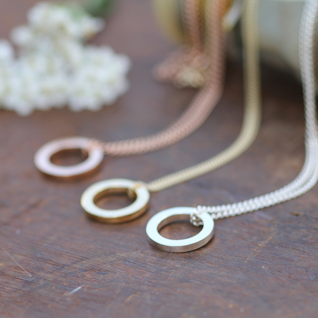 Joulberry White Gold Polo Necklace