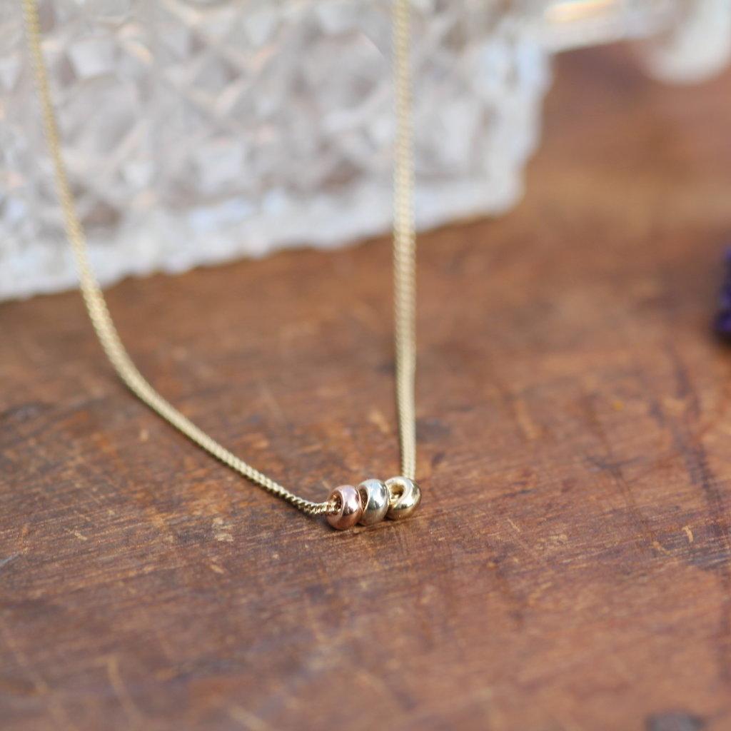 MONROE Tri Gold Necklace