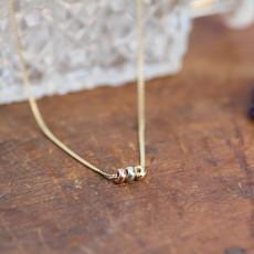 Joulberry Gold Nova Tri Necklace