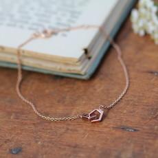 Joulberry Rose Gold  Geo Infinity Bracelet