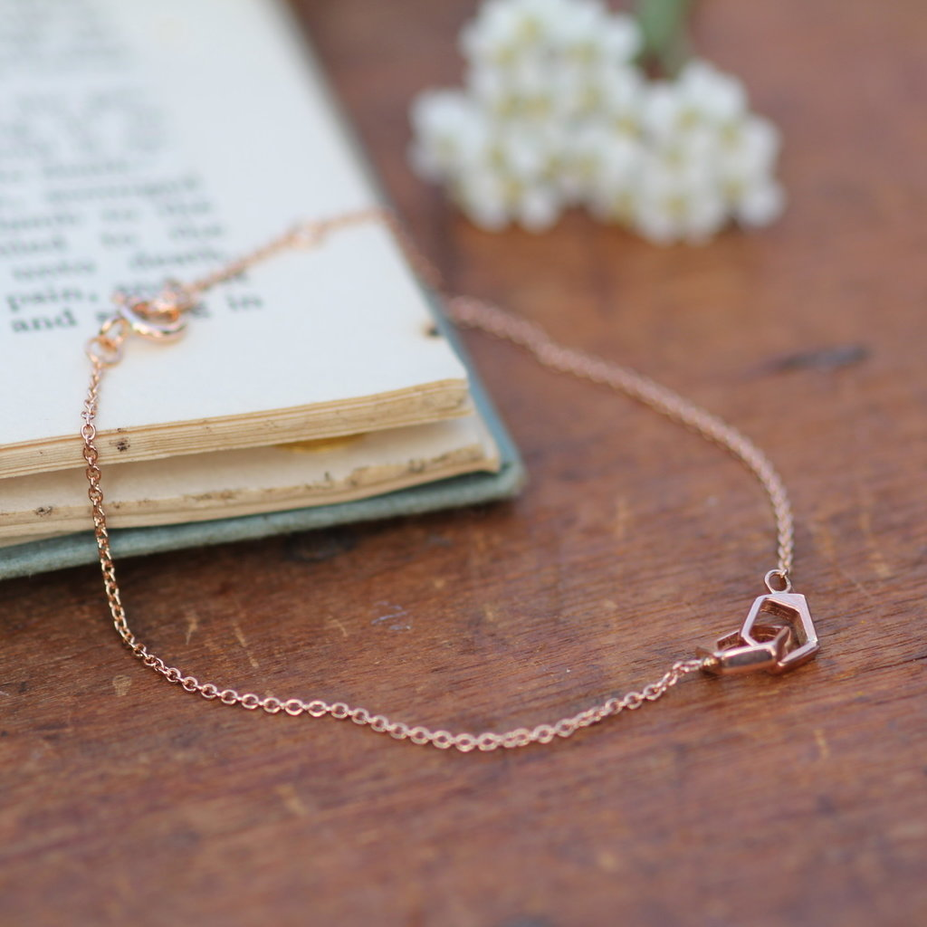 Joulberry Rose Gold  Geo Infinity Bracelet