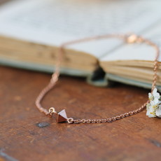 NOVA Rose Gold Pyramid Bracelet