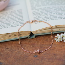 Joulberry Rose Gold Pyramid Bracelet