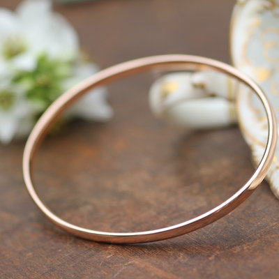 Rose Gold Elipse Bangle