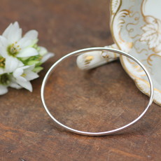 Silver Elipse Bangle