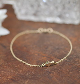 Joulberry Gold Pyramid Bracelet