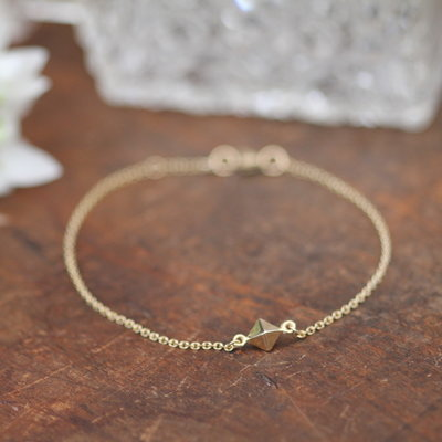 Gold Pyramid Bracelet