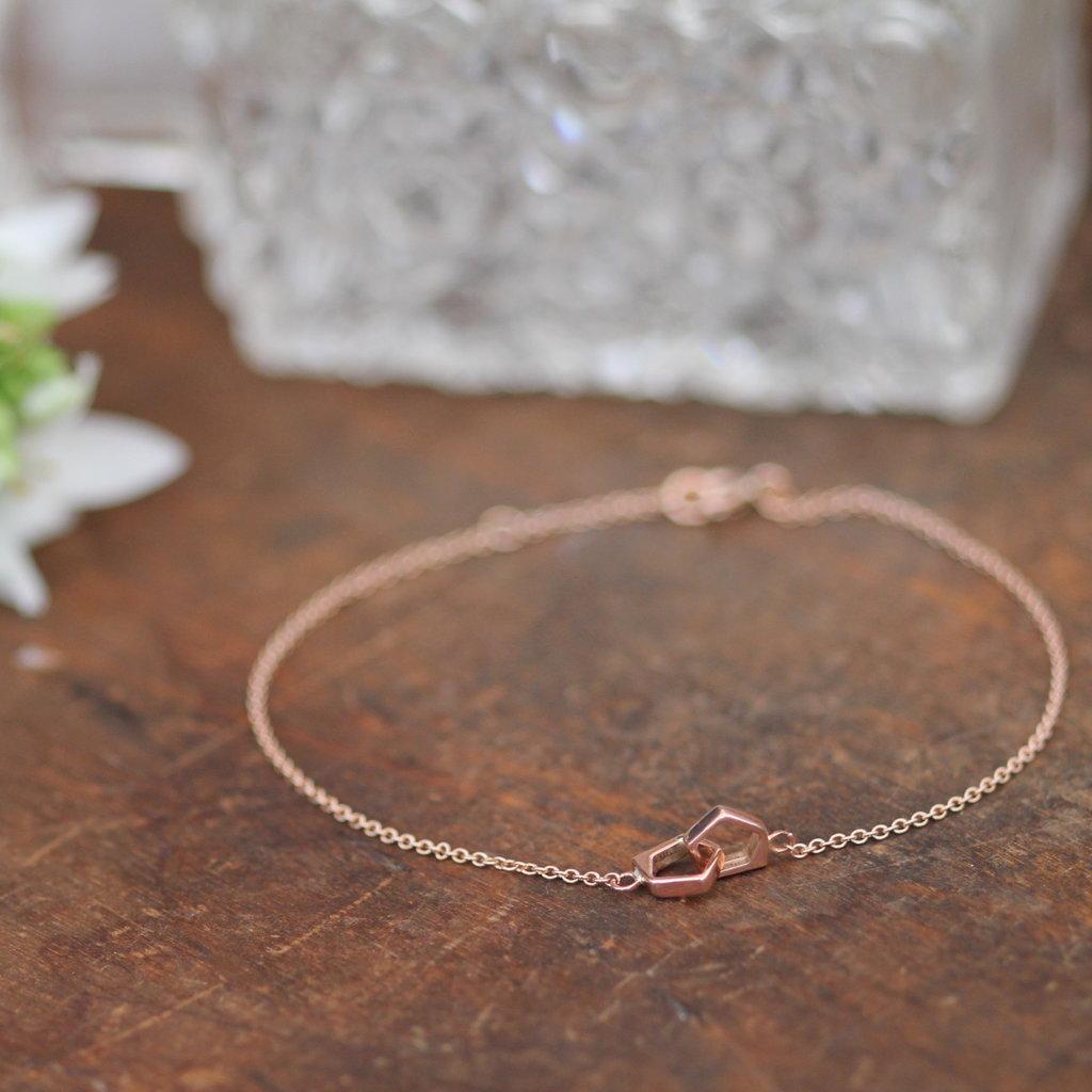 Rose Gold  Geo Infinity Bracelet
