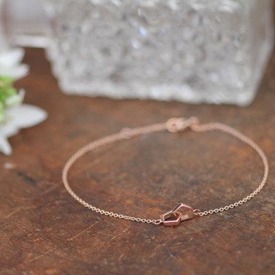 NOVA Rose Gold Infinity Bracelet