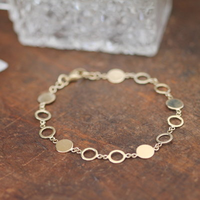 Gold Ecliptic Disc Bracelet