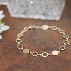 MADISON Gold Ecliptic Disc Bracelet