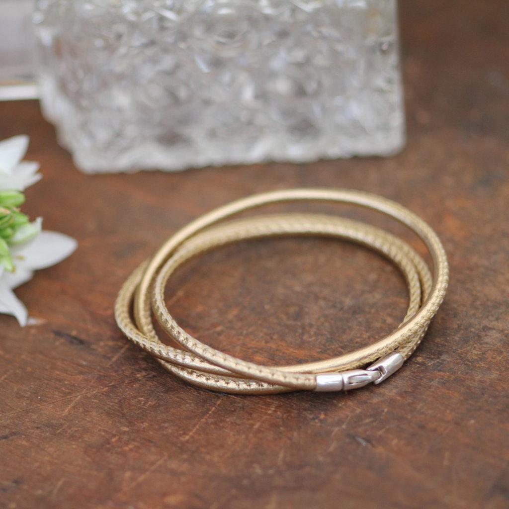 BOHO Tri Gold Bronte Bracelet