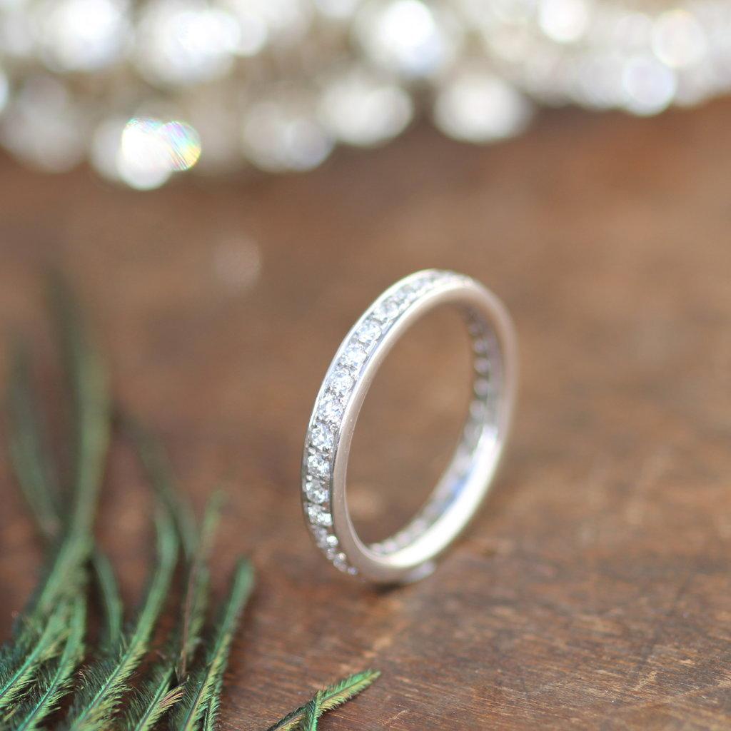 White Gold Elizabeth Eternity Ring