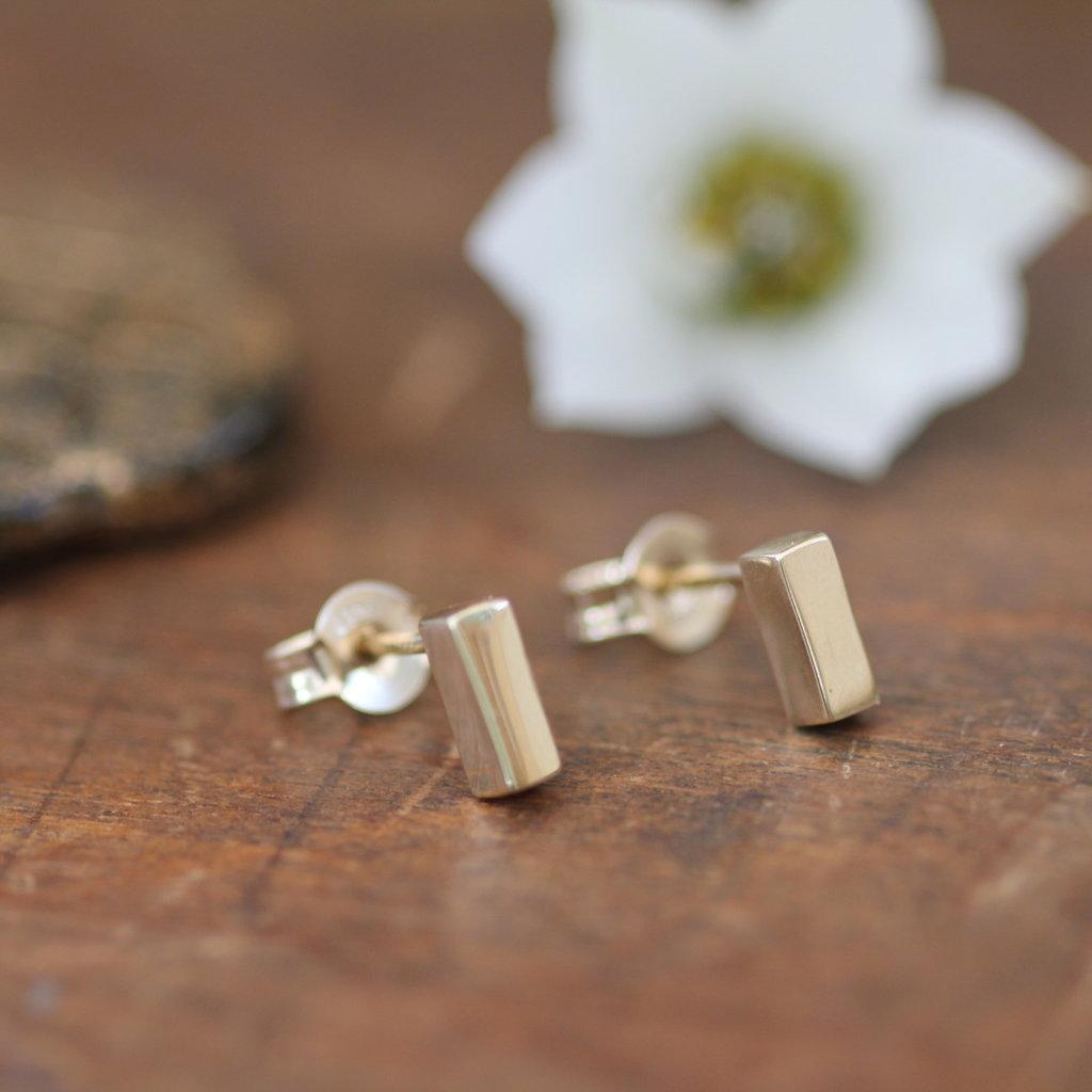 KENSINGTON Gold Bolt Earrings