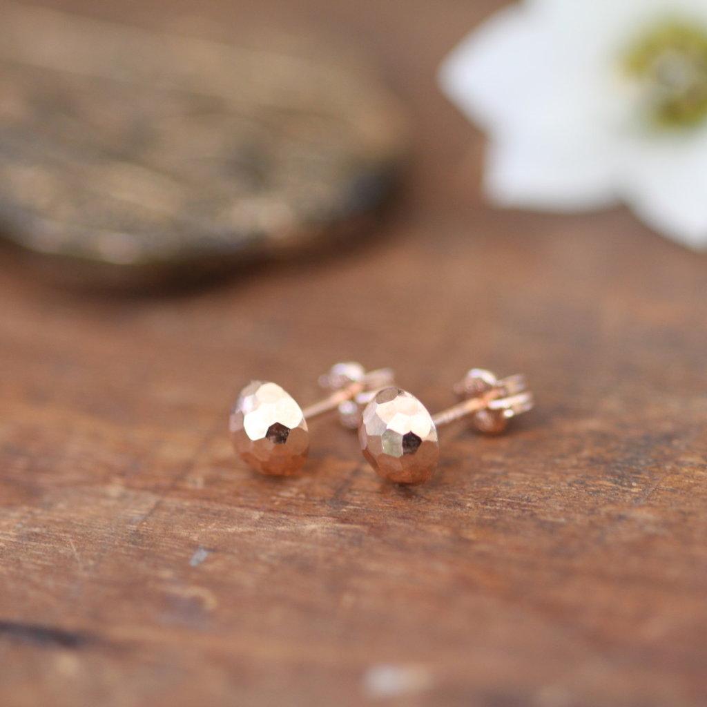 Rose Gold Dazzle Earrings