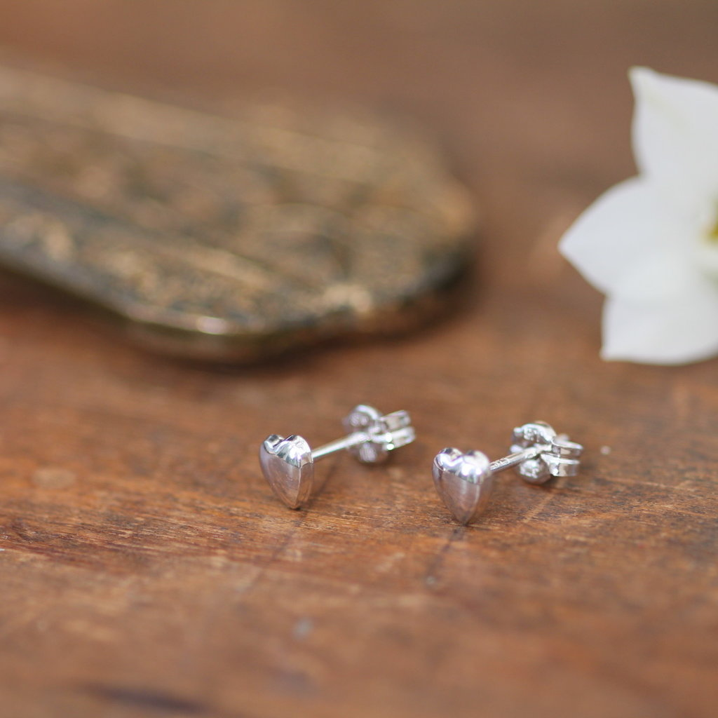 DARCY Silver Petite Heart Earrings