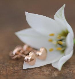 Joulberry Rose Gold Petite Heart Earrings