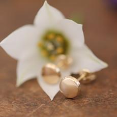 MADISON Golden Button Earrings