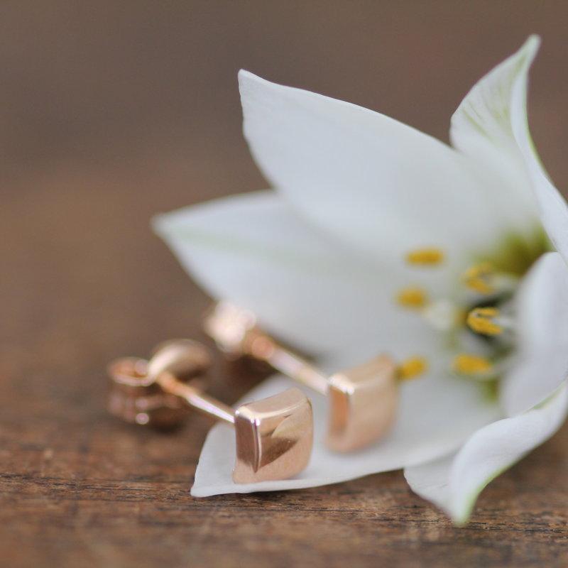 NOVA Rose Gold Cushion Earrings