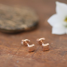 Joulberry Rose Gold Cushion Earrings