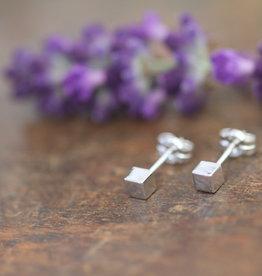 Joulberry Silver Cube Earrings