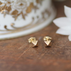 Golden Pyramid Earrings