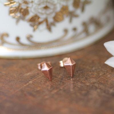 Rose Gold Kite Earrings