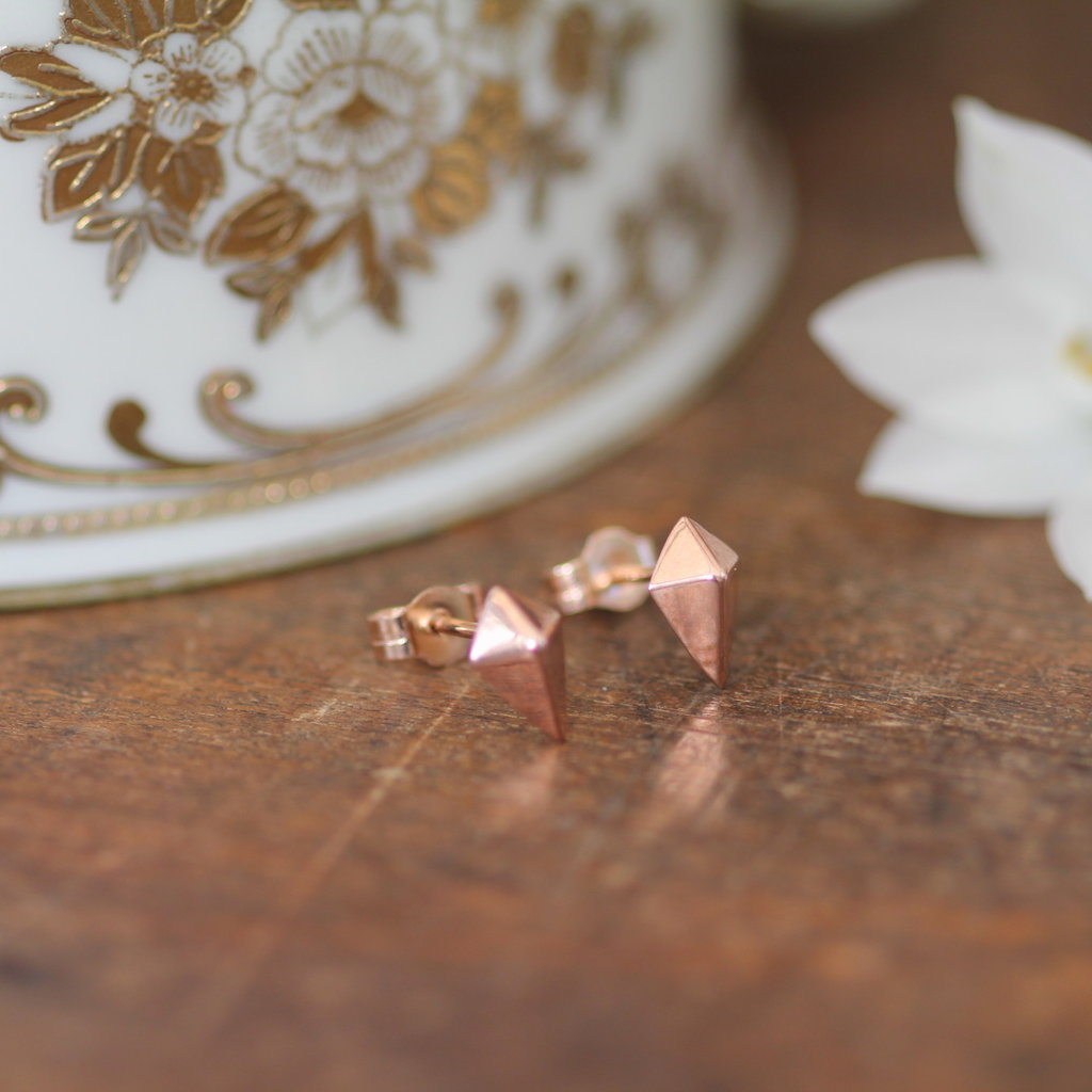 Rose Gold Kite Earrings