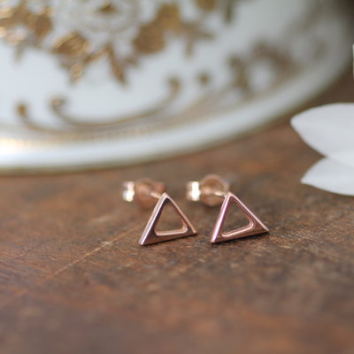Joulberry Rose Gold Geo Earrings
