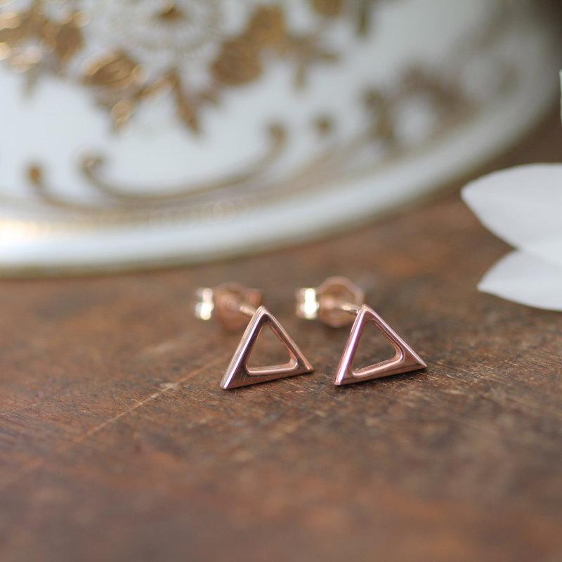NOVA Rose Gold Geo Earrings