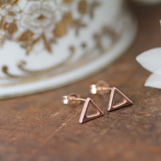 Rose Gold Geo Earrings