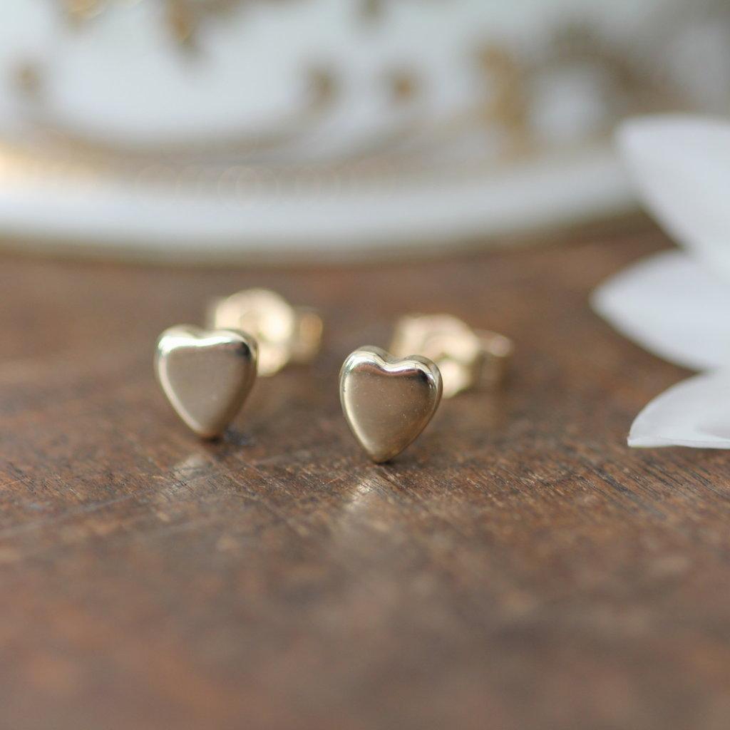 DARCY Gold Slender Heart Earrings