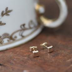 Joulberry Golden Cushion Earrings