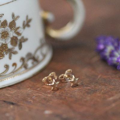 LUNAR Gold Star Earrings