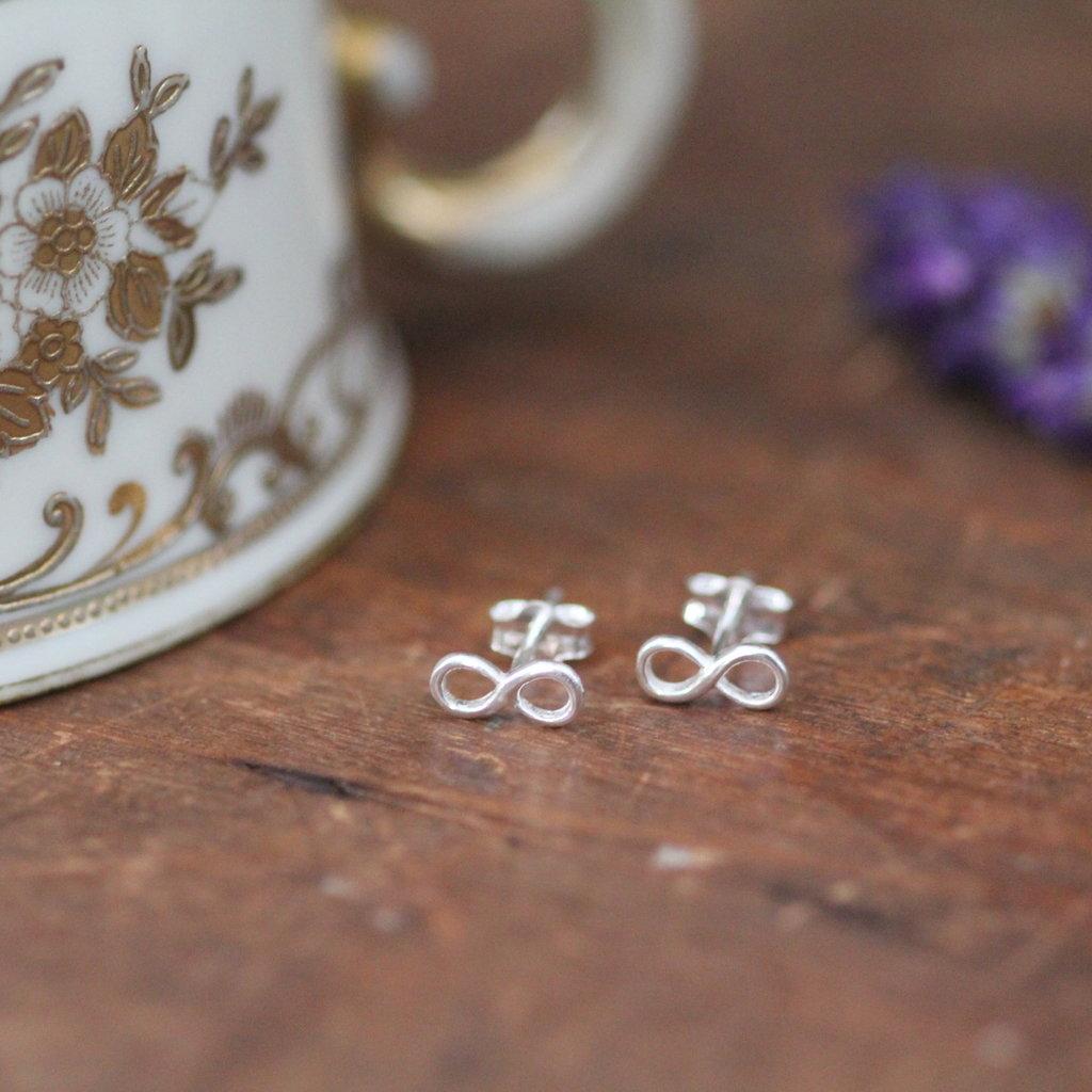 Joulberry Silver Infinity Earrings
