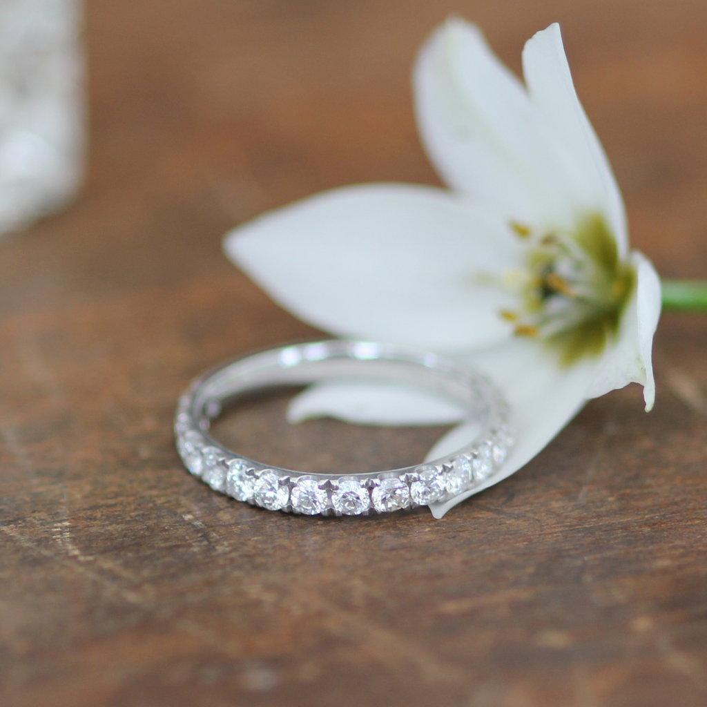 White Gold Cape Eternity Ring