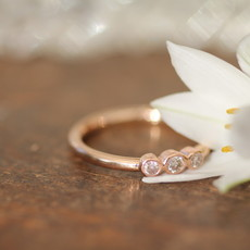 Joulberry Rose Gold Trio Diamond Ring