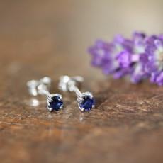 Sapphire White Gold Stud Earrings