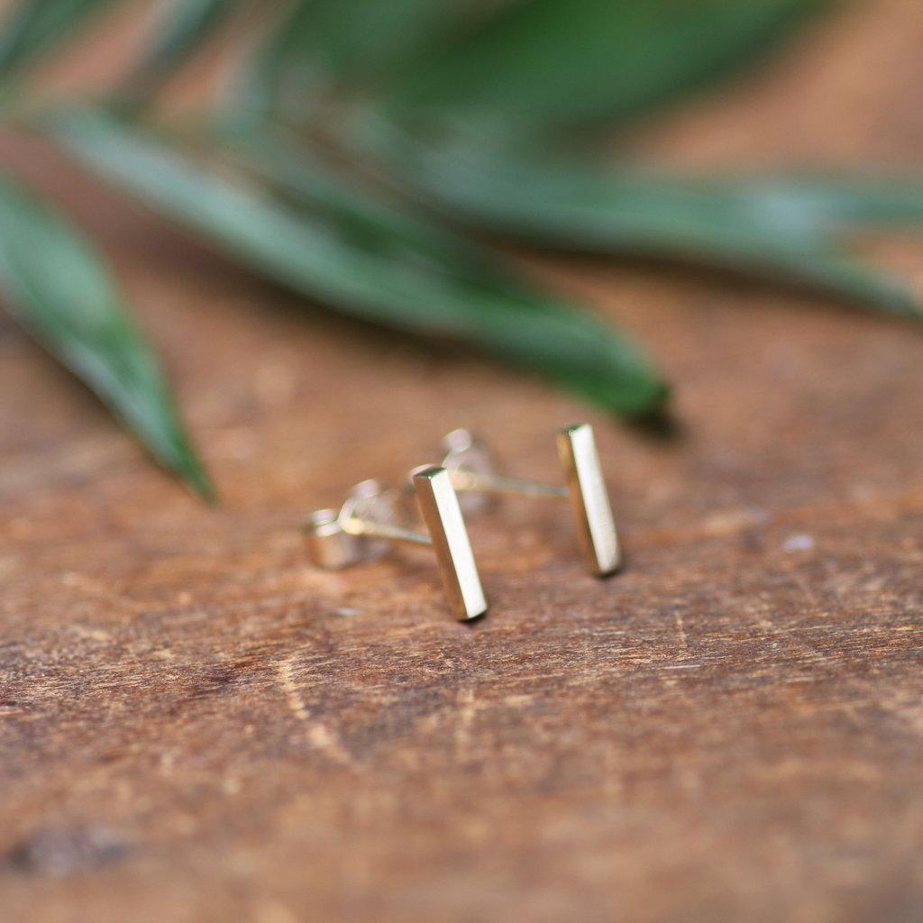 MADISON Gold Slender Bar Earrings