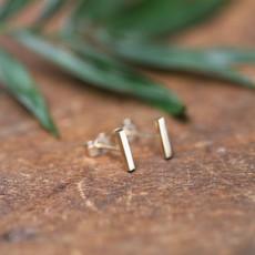 Gold Slender Bar Earrings