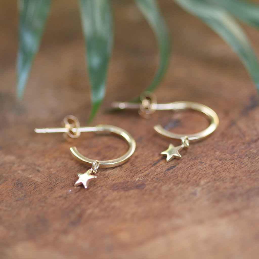 Gold Evelyn Star Earrings