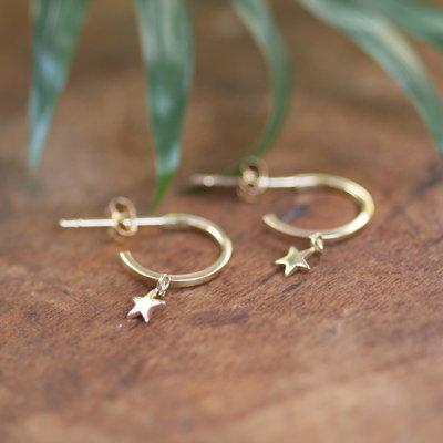 Gold Evelyn Star Earrings